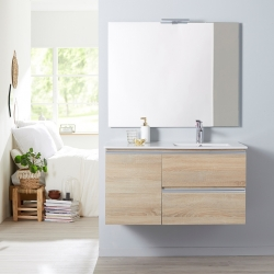 MEUBLE DYNAMIC 100 2 TIROIRS + 1 PORTE OAK BORDOLINO