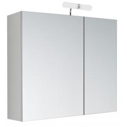 Armoire de toilette éclairante Kle'o 60 cm blanc mat