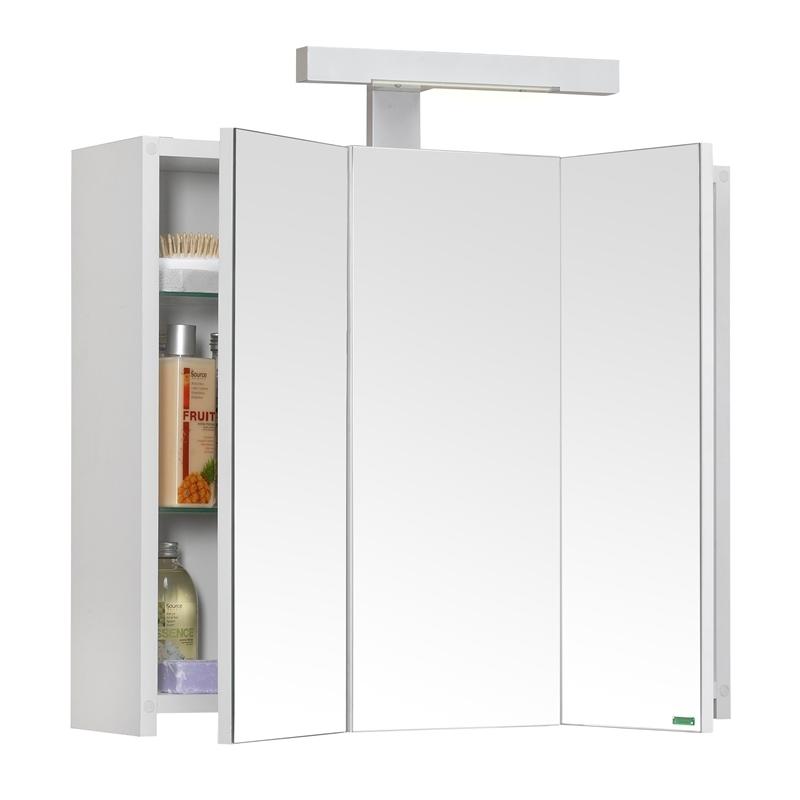 achat armoire de salle de bain triptyque clairante 60 cm planetebain. Black Bedroom Furniture Sets. Home Design Ideas