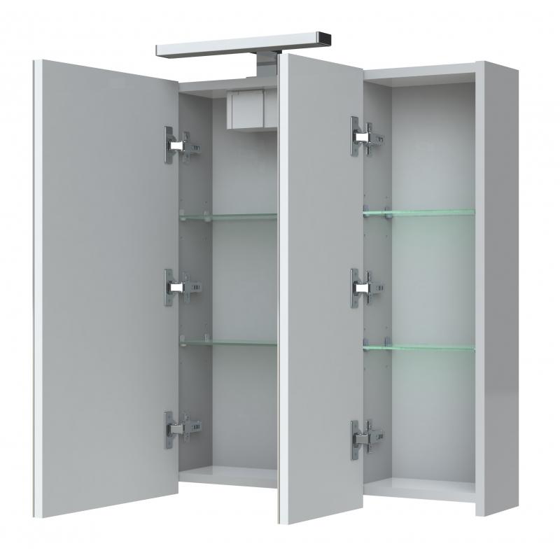 achat armoire de salle de bain clairante 80 cm planetebain. Black Bedroom Furniture Sets. Home Design Ideas