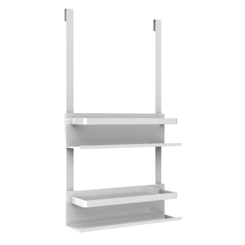 etagere de douche suspendre industriel blanc mat. Black Bedroom Furniture Sets. Home Design Ideas