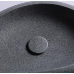 Kit bonde écoulement libre + cabochon en pierre gris ardoisé