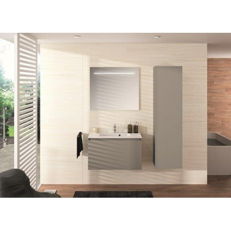 MEUBLE NORDIK 80 GRIS + PLAN VASQUE 80 RONDO SOFT TOUCH