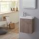 Meuble lave-mains design couleur colorado + robinet eau froide