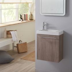 Meuble lave-mains complet couleur colorado avec mitigeur eau chaude/ eau froide
