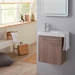 Pack lave mains decor colorado avec lave mains et porte serviette intégré + mitigeur