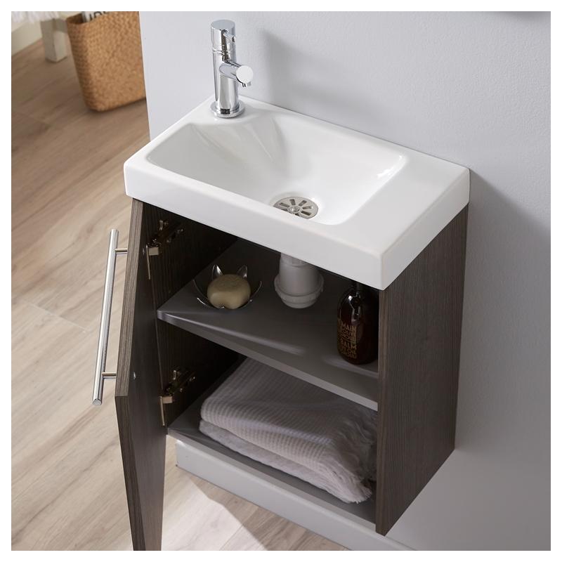 meuble lave mains couleur sandy grey hamac pour wc. Black Bedroom Furniture Sets. Home Design Ideas