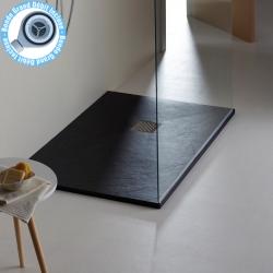 Receveur à poser 80X160 cm noir taille xxl