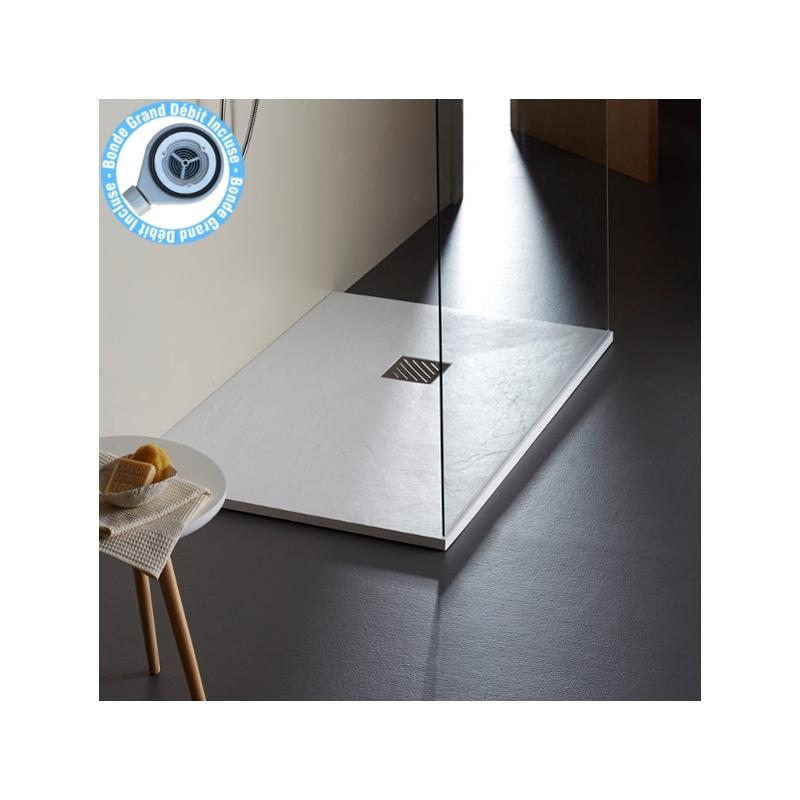 receveur de douche extra plat poser 120x90 plaenetebain. Black Bedroom Furniture Sets. Home Design Ideas