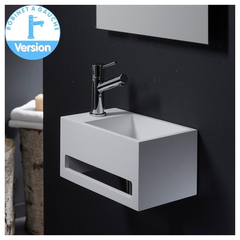 lave mains design gain de place avec porte serviette planetebain. Black Bedroom Furniture Sets. Home Design Ideas