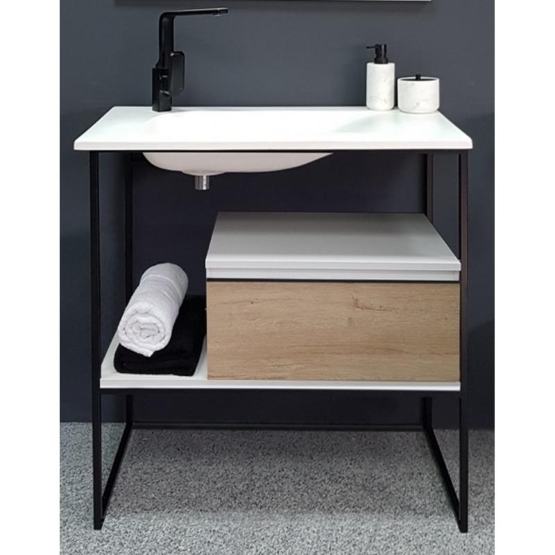 vente de meuble de salle de bain 80 cm tig style industriel. Black Bedroom Furniture Sets. Home Design Ideas