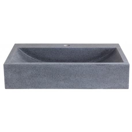 Vasque à poser rectangle en pierre