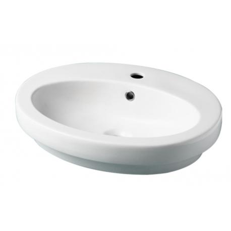 Vente Vasque à Poser Ovale Ou Semi Encastrable En Céramique Ajaccio