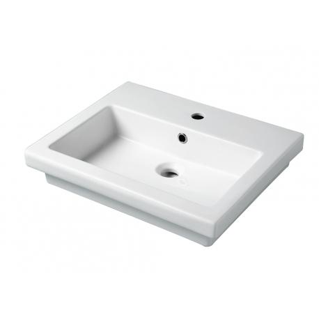 Vente vasque à poser ou semi encastrable blanche bella - planetebain