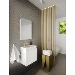 Pack lave mains avec miroir Porto blanc - Marque allibert