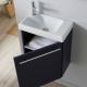 Lave-mains complet avec meuble couleur bleu nuit+ mitigeur eau chaude/eau froide à gauche