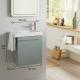 Pack lave-mains tout compris vert de gris avec robinetterie eau froide à droite