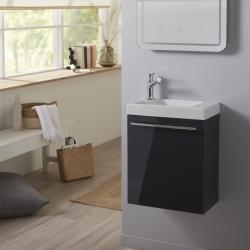 Meuble lave-mains complet couleur gris anthracite laqué avec mitigeur eau chaude / eau froide