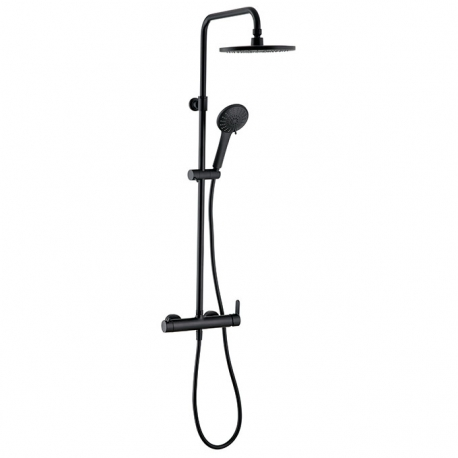 Colonne de douche Black Roma Touch avec mitigeur mécanique Wirquin