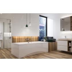 Baignoire encastrée rectangulaire Intro 170x75 en acrylique + tablier central