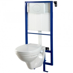 Pack wc suspendu mural + cuvette nf