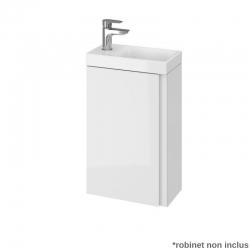 Meuble faible profondeur pour WC et salle d'eau 40x22 cm couleur blanc