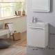 Meuble lave-mains design couleur blanc avec mitigeur eau chaude/ eau froide