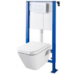 Pack WC suspendu universel + Cuvette avec bride rectangulaire DIAG