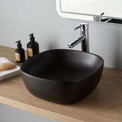 Vasque à poser Vienne en céramique noire