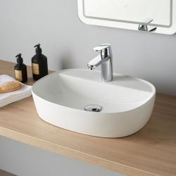 Vasque à poser 50 x 38 en céramique blanc - Toscane
