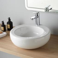 Vasque à poser ronde céramique