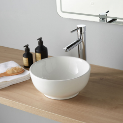Vasque à poser bol blanche