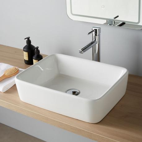 Vasque à poser rectangle en céramique