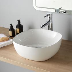 Vasque à poser Vienne blanc brillant en céramique