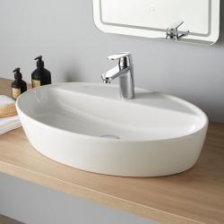 Vasque à poser ovale en céramique