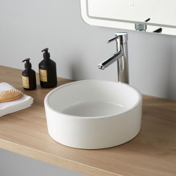 Vasque à poser ronde en céramique ø 35 cm
