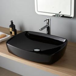 Vasque à poser Minima 60x44 cm noire
