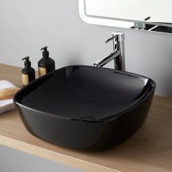 Vasque à poser carrée Minima 46x46 cm noire