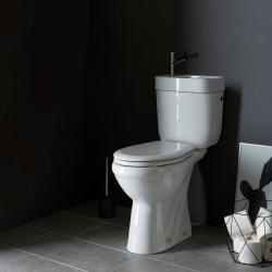 Pack wc surélevé sortie verticale avec lave mains