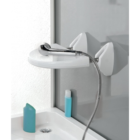 Siége de douche repliable blanc