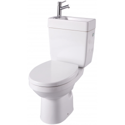 WC avec lave-mains intégré sans bride sortie horizontale Opale