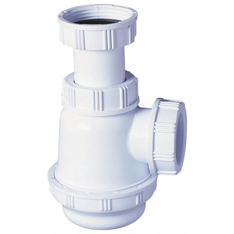 PLANETE BAIN OFFICIEL Siphon de lavabo en abs, Blanc SPEC...