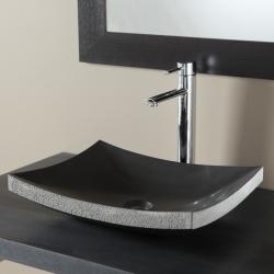 Vasque à poser en pierre naturelle pure et élégante