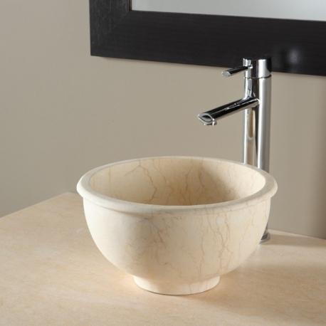 Vasque à poser bol en pierre style ancien