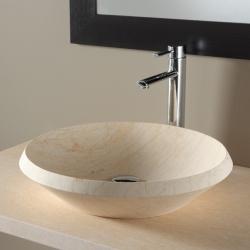 Vasque à poser ronde en pierre esprit antique