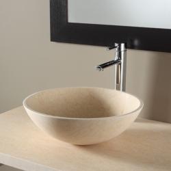 Vasque à poser bol en pierre effet marbré