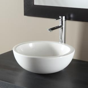 vasque a poser bol vasques salle de bains porcelaine blanche. Black Bedroom Furniture Sets. Home Design Ideas