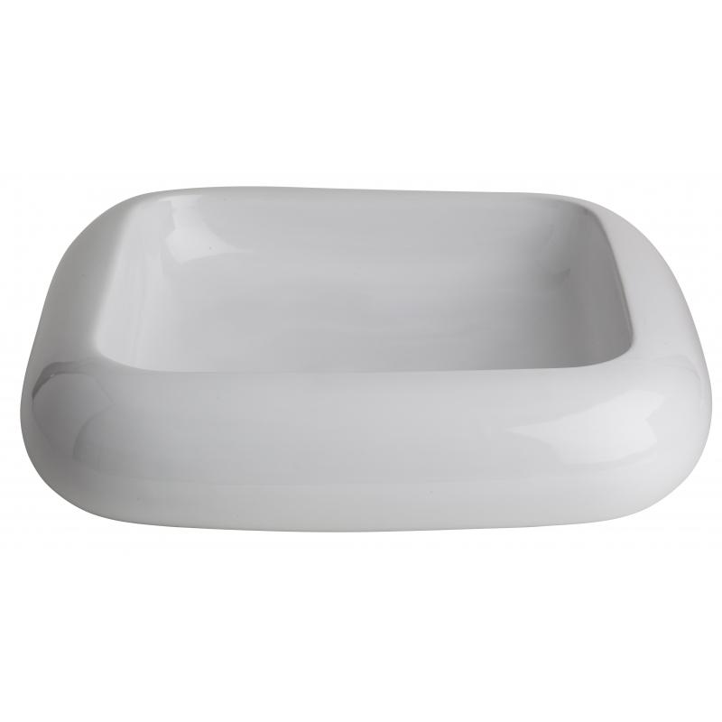 Vasque a poser blanche vasques en porcelaine planete bain - Vasque a poser ceramique ...