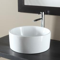 Vasque à poser ronde en céramique blanc