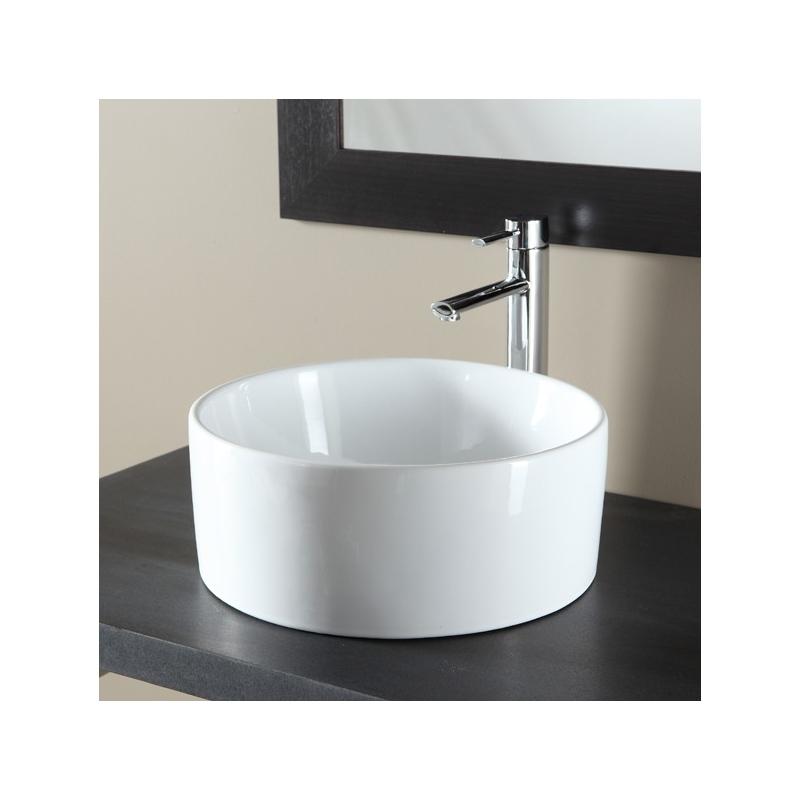 vasques a poser forme cylindre vasque en porcelaine blanche. Black Bedroom Furniture Sets. Home Design Ideas